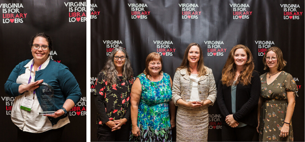 Jennifer Brown was named the 2019 Librarian of the Year. Central Rappahannock Regional Library Youth Services won the Public Innovator Award for 2019.