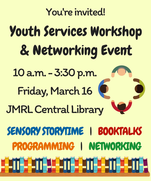 Youth Services Workshop and Networking Event to be held March 16